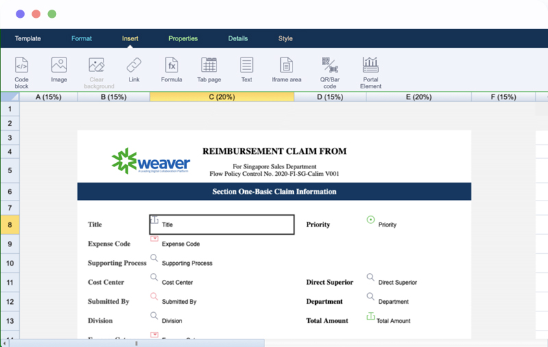 Business Process Management Form Designer